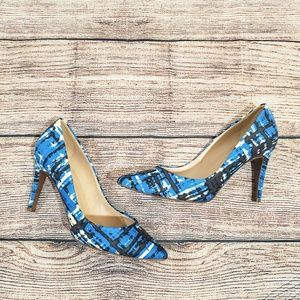 J.Crew Blue Abstract Everly Printed Pumps